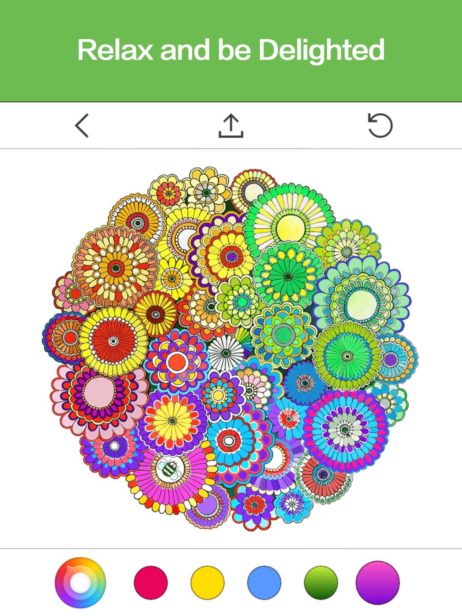 Colorfy coloring book for adults free online - App Description