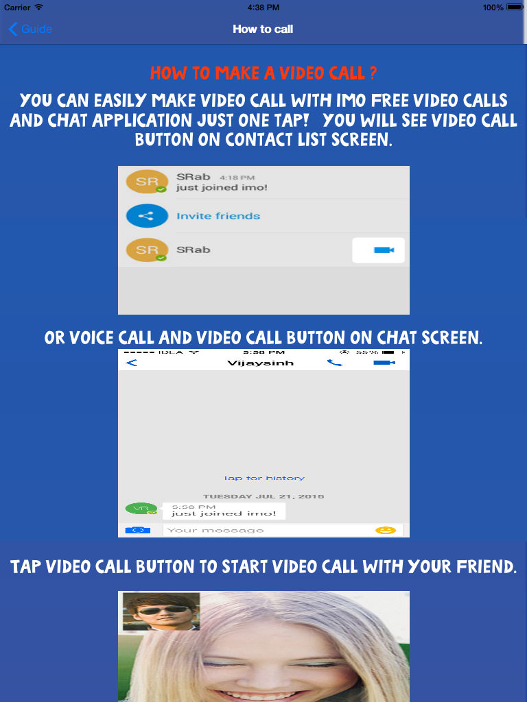 Guide for imo Video Chat Call App Ranking and Store Data | App Annie