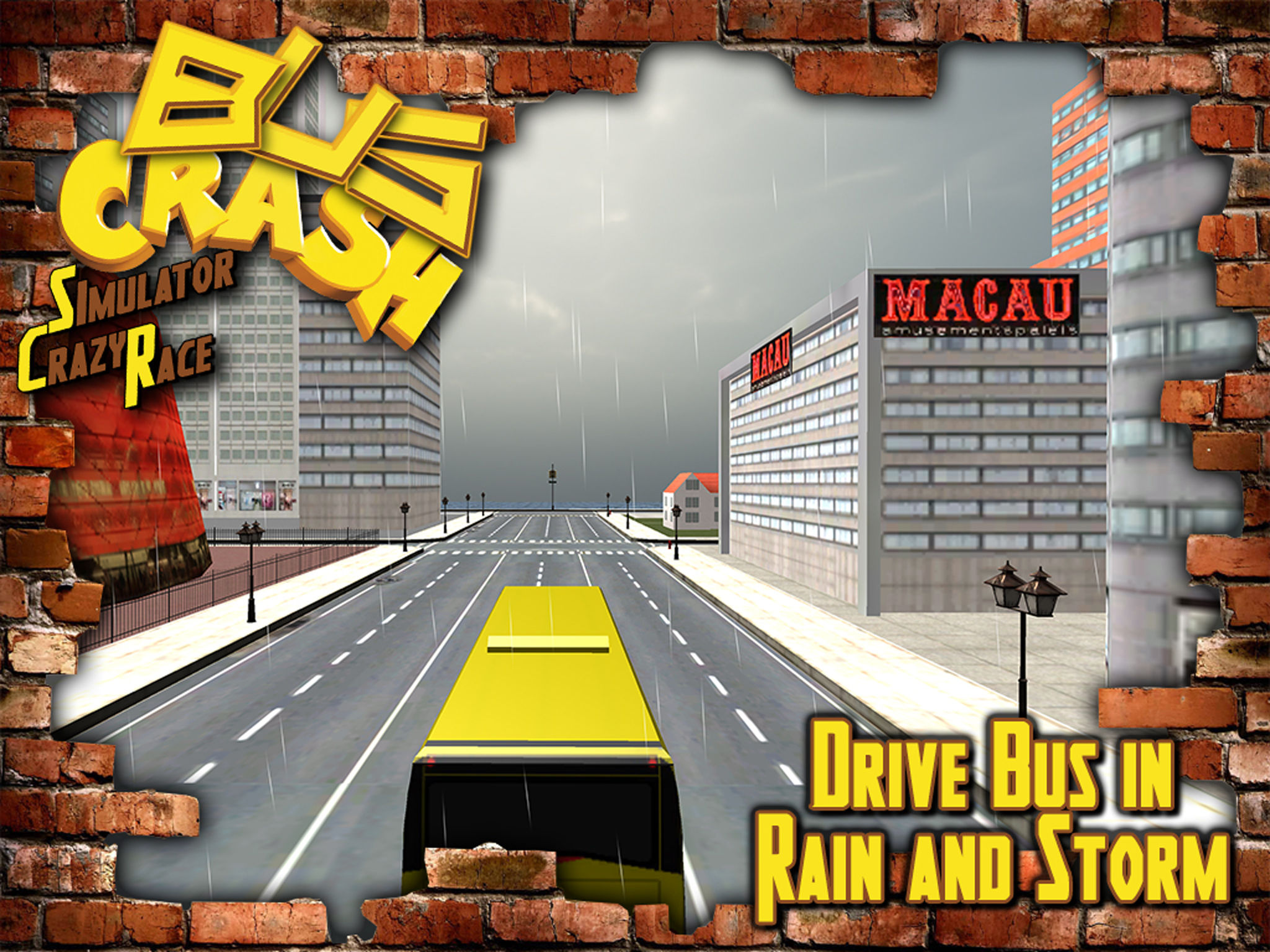 Bus Crash Simulator Crazy Race : Extreme Car Smash Bus Driver ...