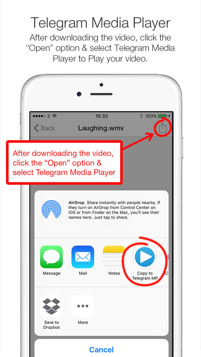Telegram Media Player - Video & Movie Player for Telegram Messenger