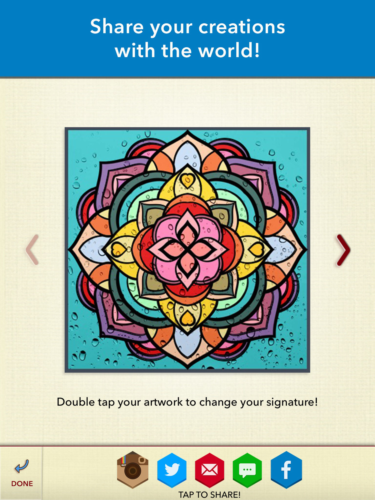 Color therapy anti stress coloring book app - App Description