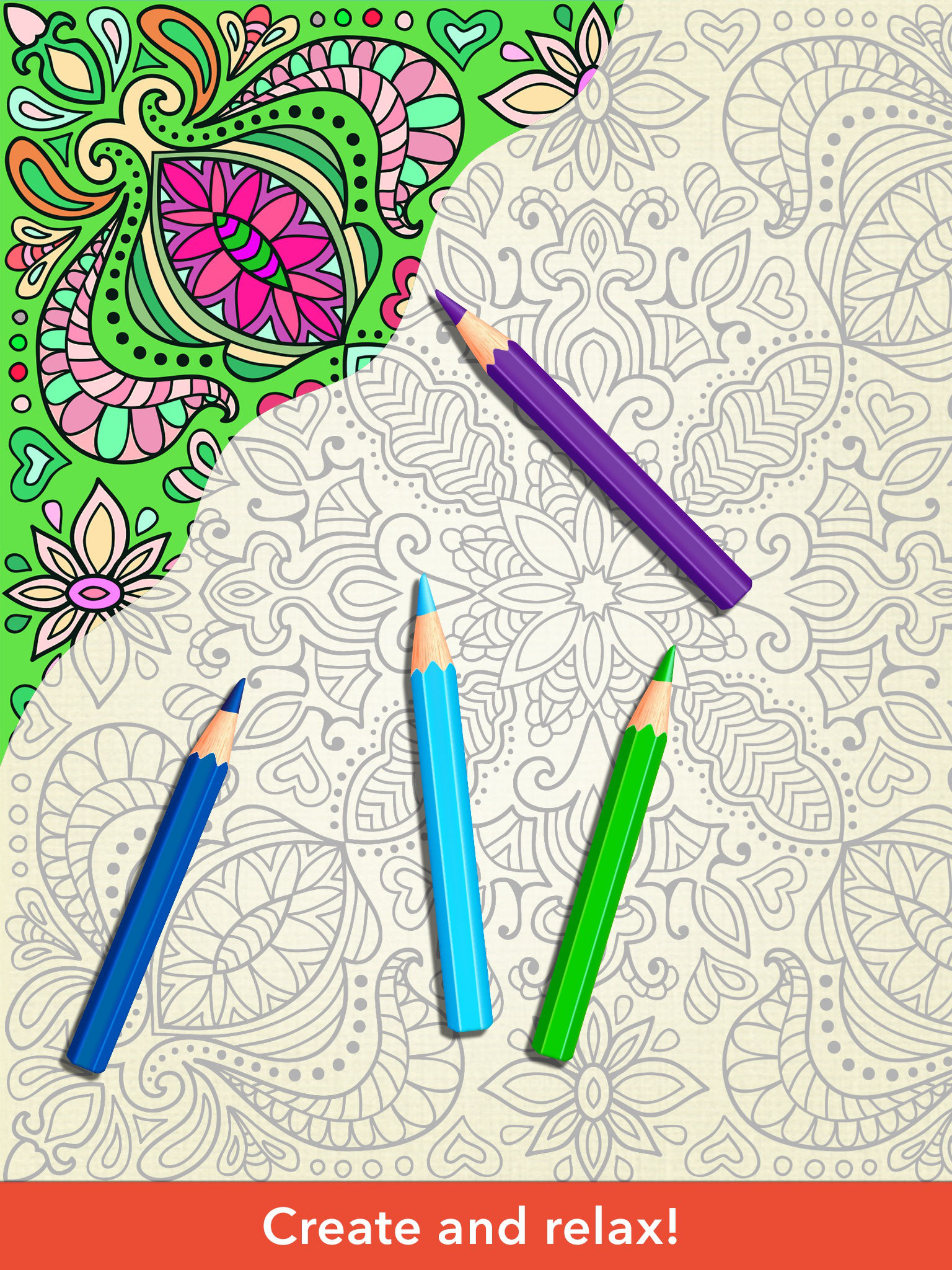 Zen coloring books for adults app - App Description