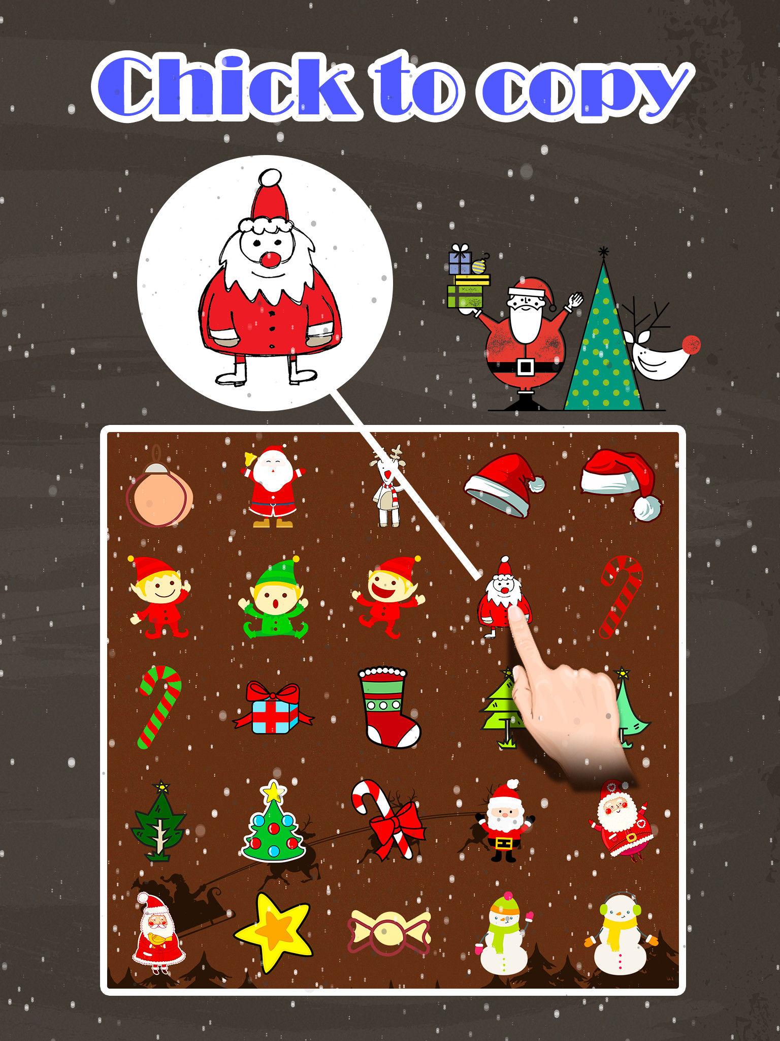 Merry Christmas Emoji Holiday Emoticon Stickers Emojis Icons For