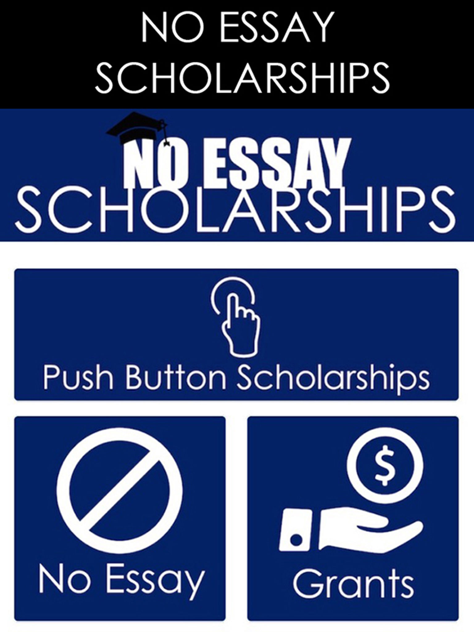 no essay scholarshps No essay, no application it's fun, and easy to get see why sussle is the hottest scholarship for students.