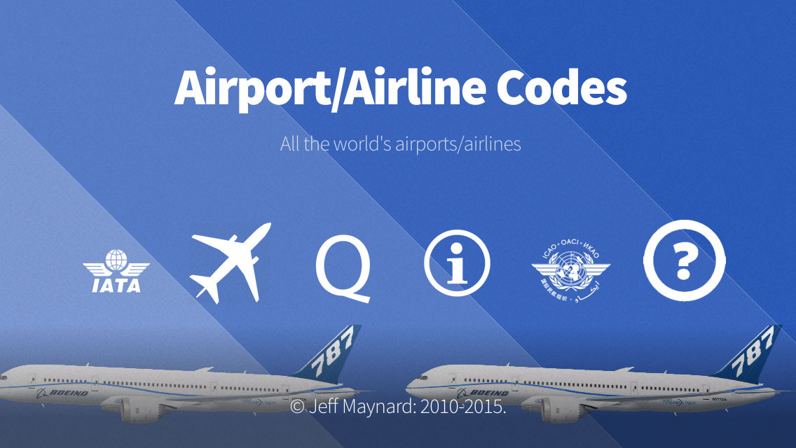 Airport Airline Codes Database App Ranking and Store Data