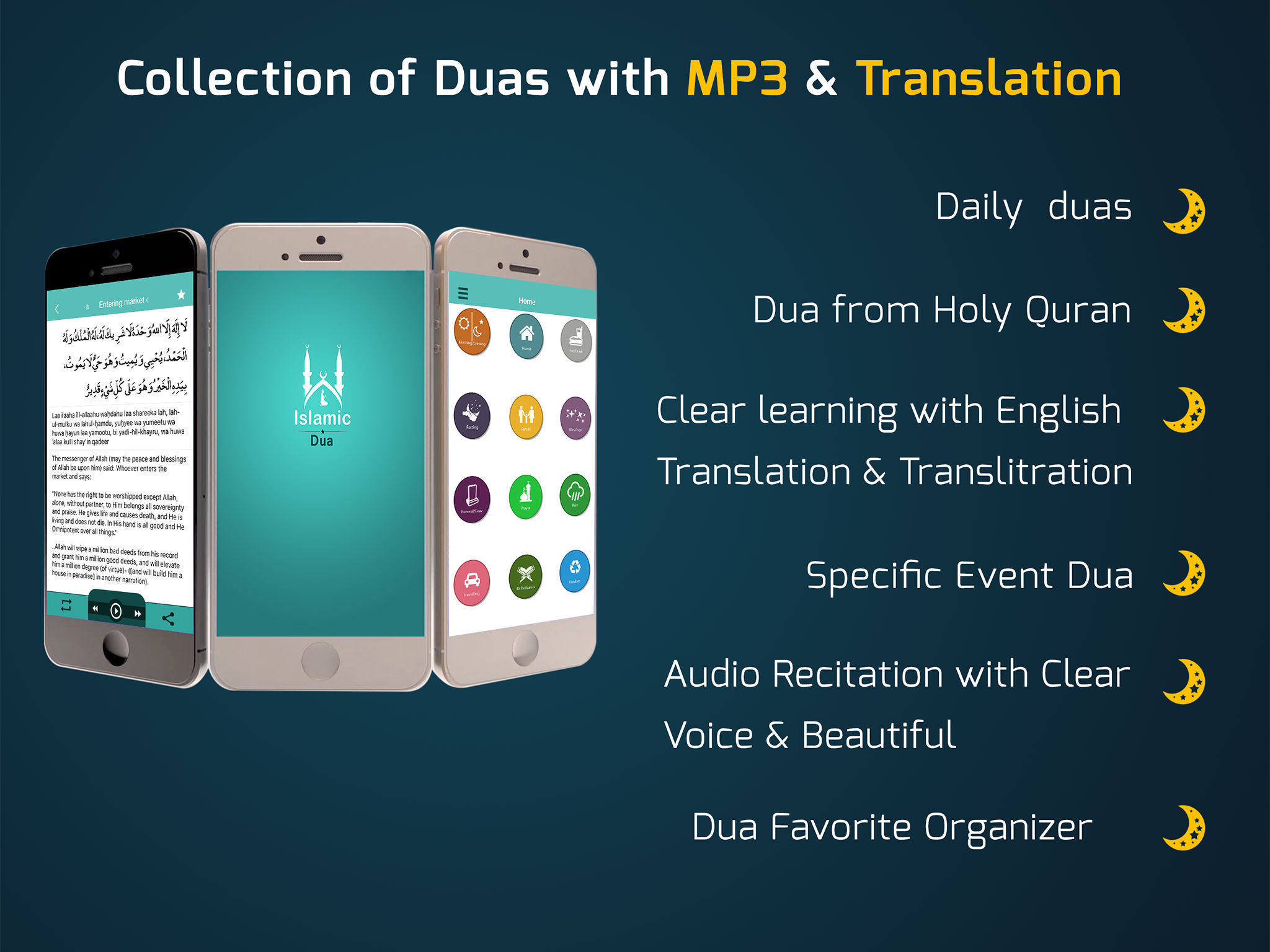 Islamic dua – Daily Duas ,Tasbeeh, 40 Rabbana, Azkar from Holy Quran