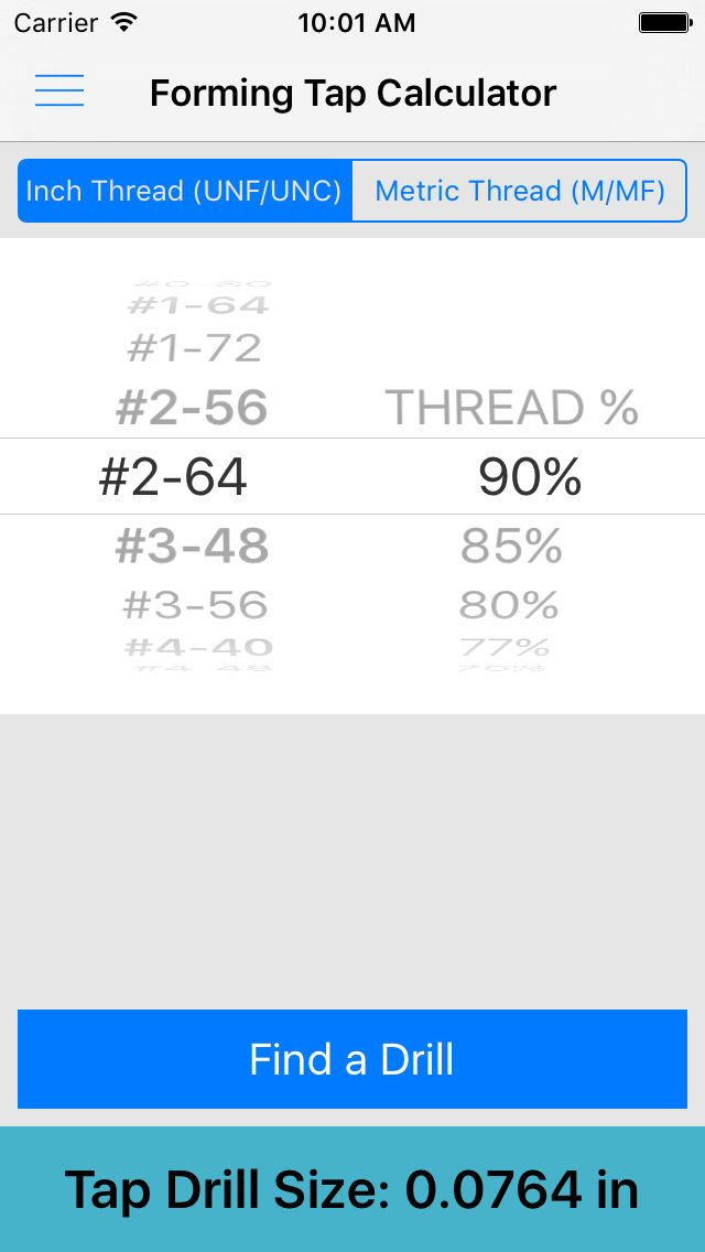 ThreadKing, Ultimate Reference and Calculator for Threads, Drills