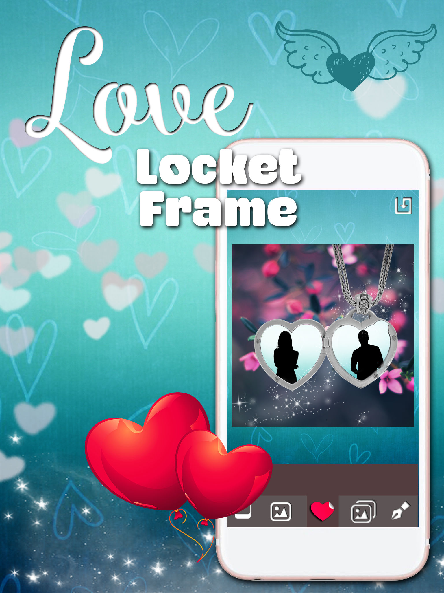 Locket frames for love pics filter your romantic photos and add you will soon forget about digital photo frames because the valentine decorations on our locket photos are the new picture craze jeuxipadfo Gallery