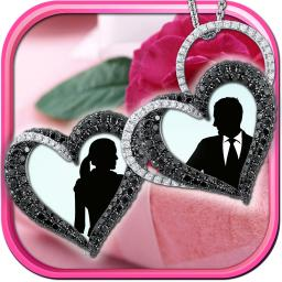 Locket Frames For Love Pics Filter Your Photos And Add Sweet Stickers On Virtual Jewelry