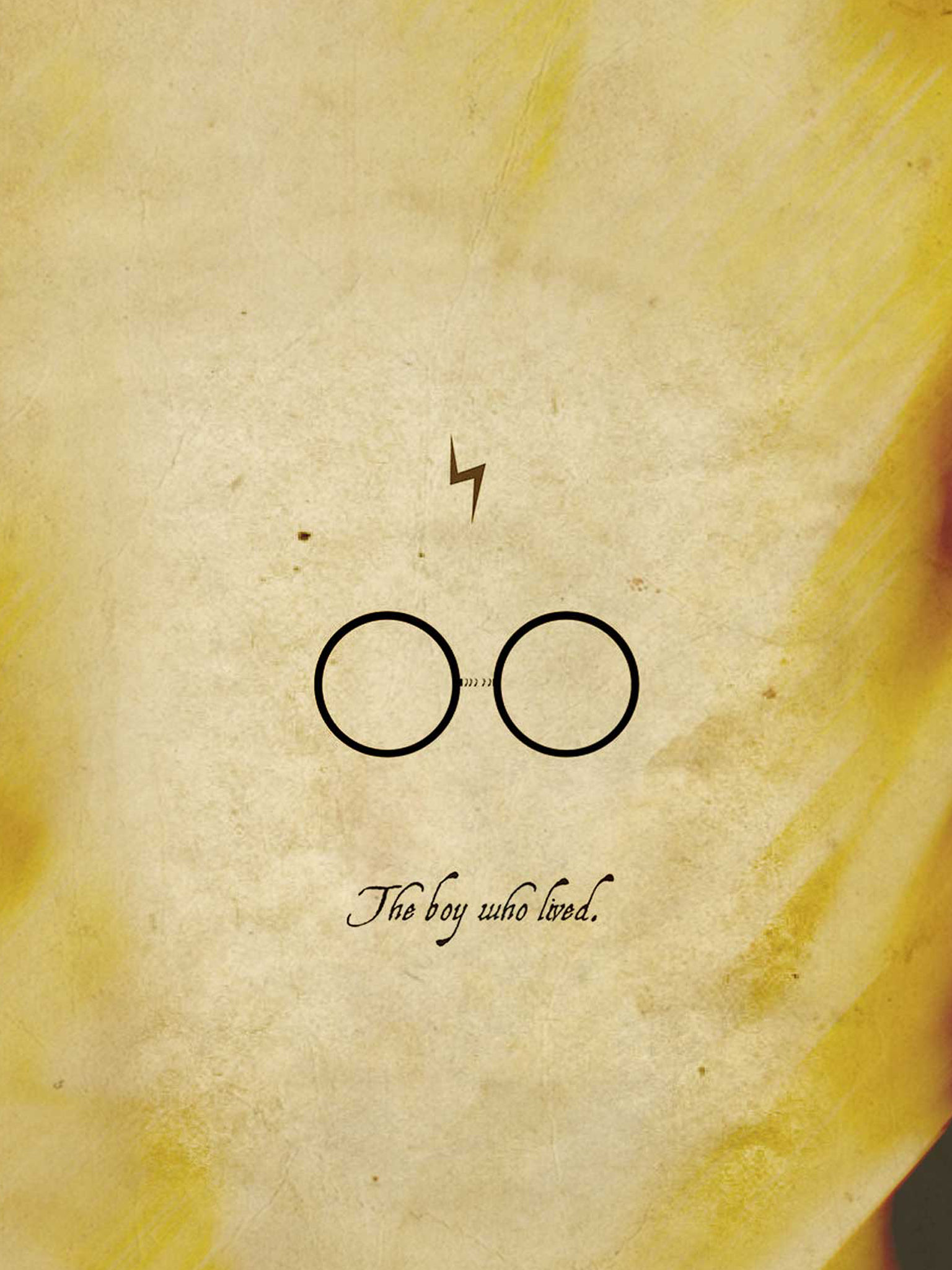 Harry potter wallpaper yellow