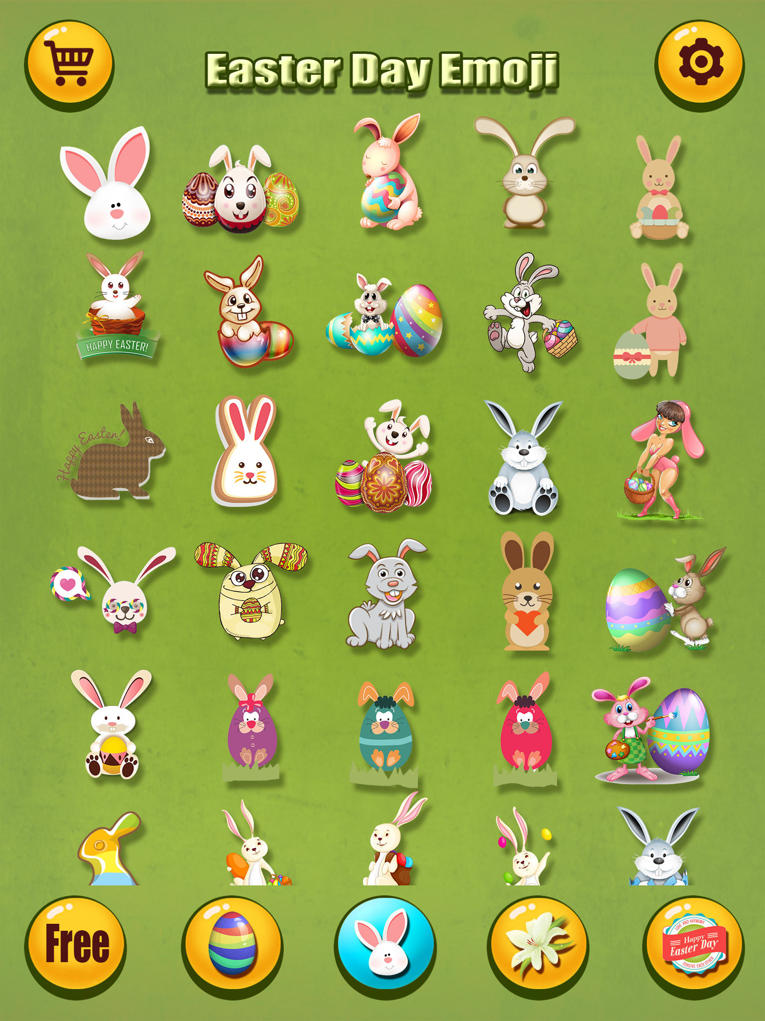 Happy Easter Emoji s Pro - Holiday Emoticon Sticker for