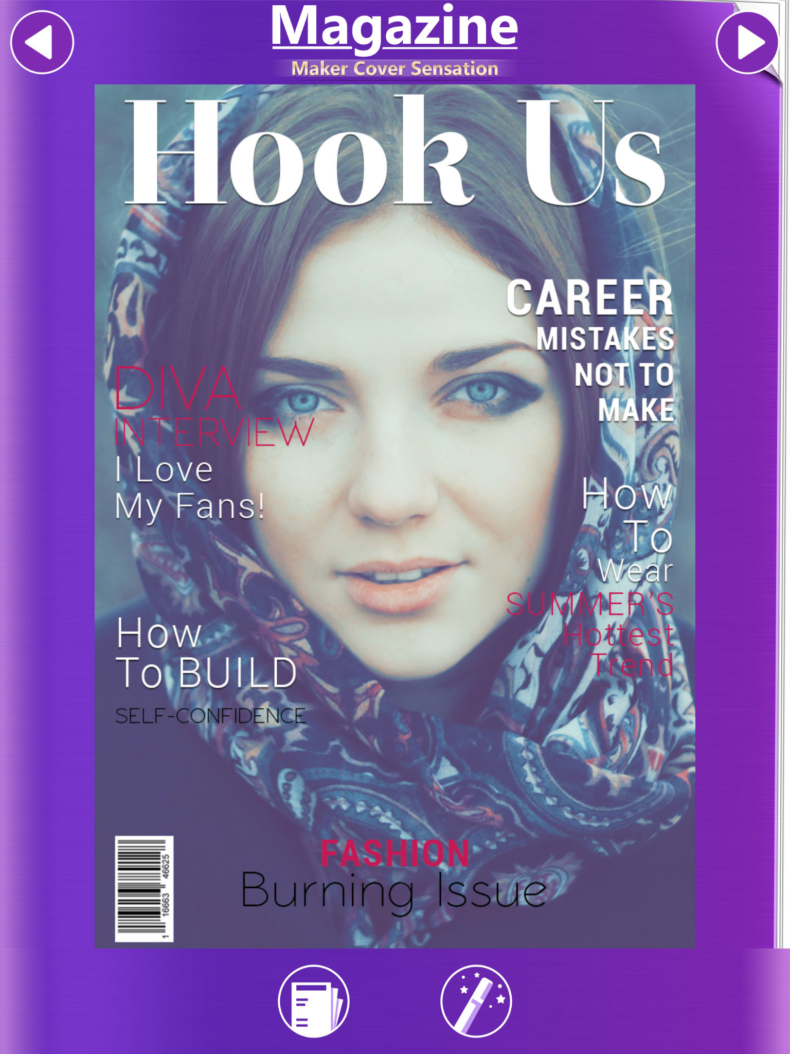 Magazine Maker Cover Sensation Put Photo S In Text Frame S Create