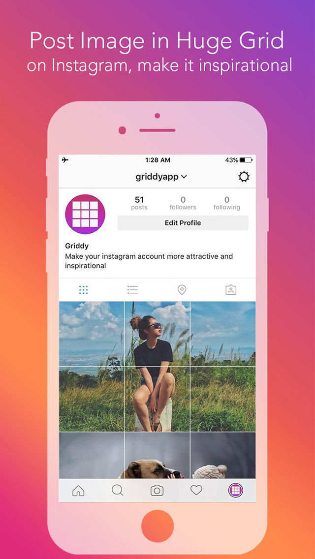 Griddy - Split Pic in Grids For Instagram Post App Ranking and Store