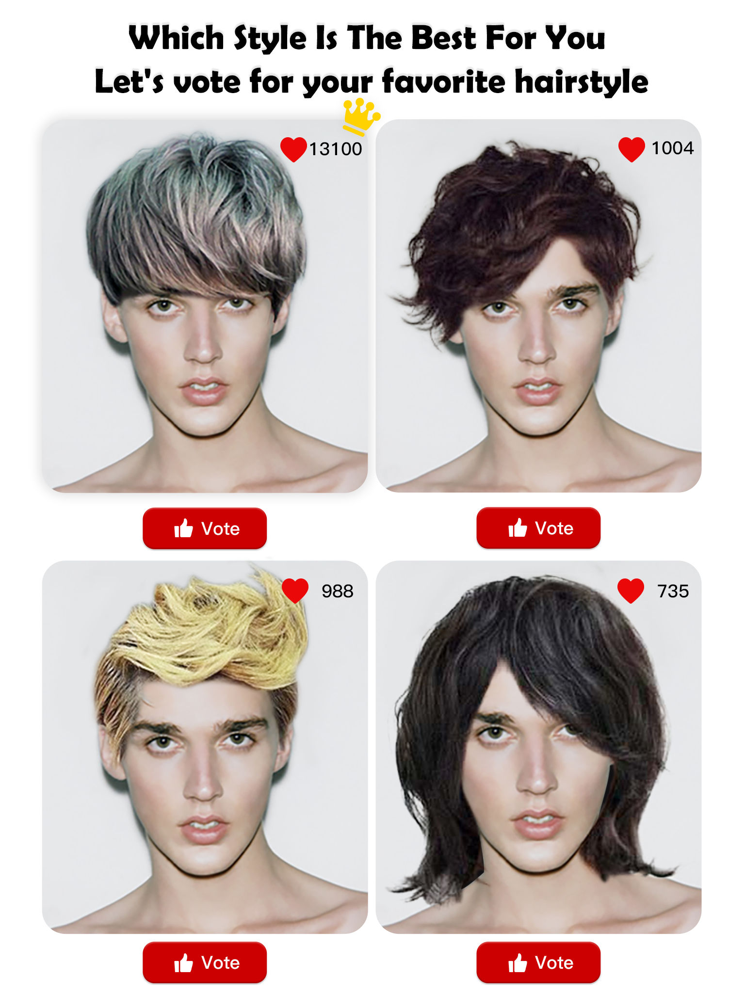 Which Hair Style Is Best For Me Lets Vote For Your New Hair