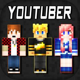 D Youtuber Skins Collection Pixel Texture Exporter For Minecraft - Skins para minecraft pe youtubers