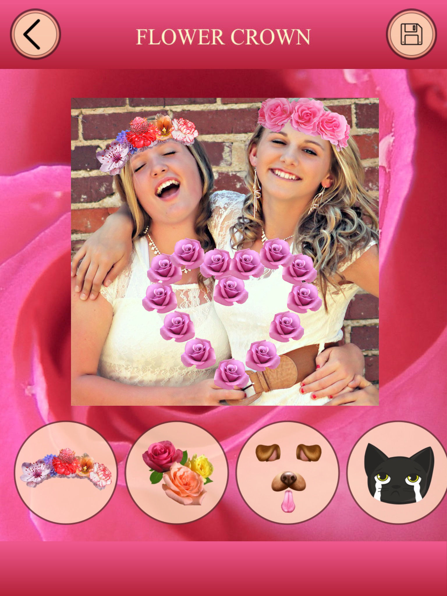 Flower crown for snapchat photo editor faceswap app ranking and app description izmirmasajfo