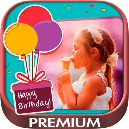 Happy Birthday Photo Frames Create Greeting Cards Collages And Edit Your Images Premium