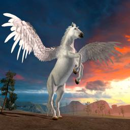 Image result for image of a flying horse
