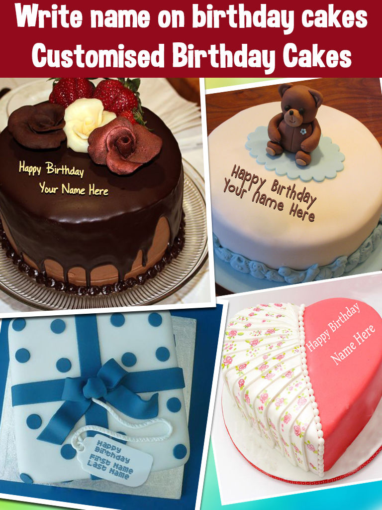 This Is The Best Application To Add Name On Birthday Cakes In Which We Have Amazing Real Make Wishes For Boys And Girls