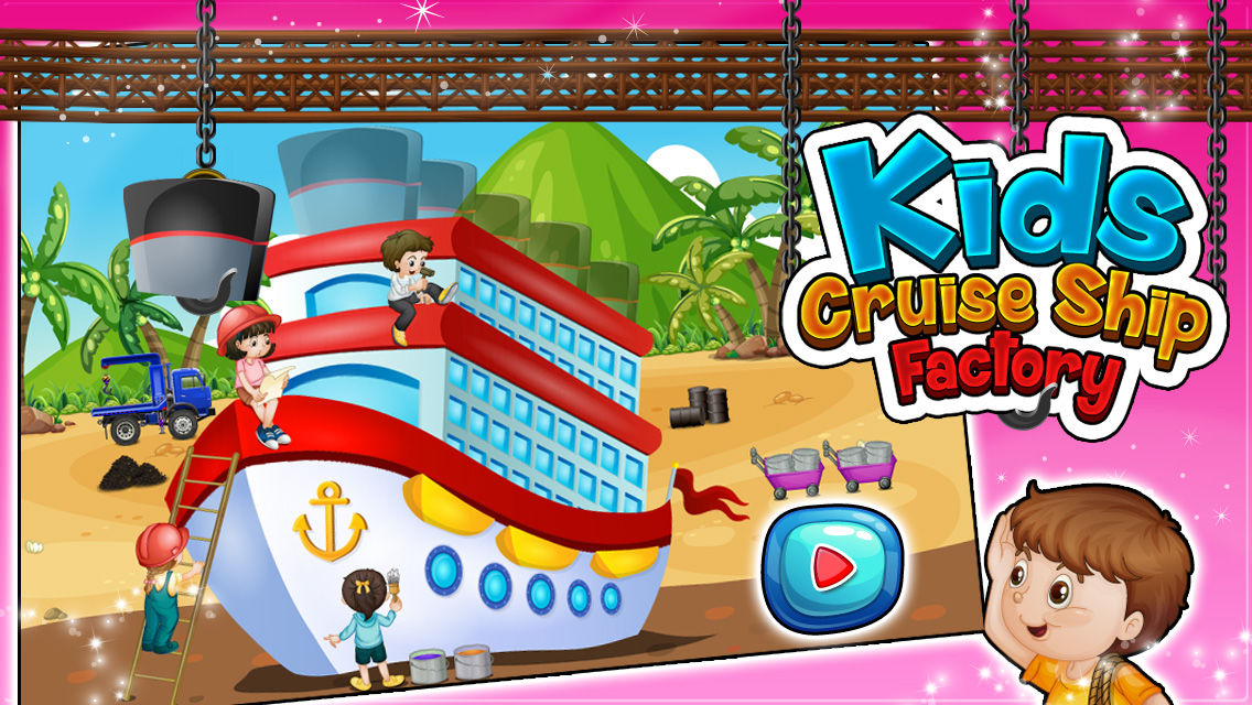 Kids Cruise Ship Factory Build Design Decorate Boat In This - Cruise ship building games