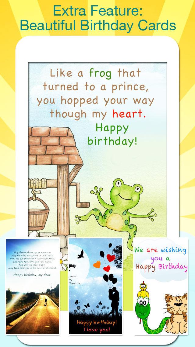 Conosciuto Birthday Greeting Cards - Text on Pictures: Happy Birthday  GV59