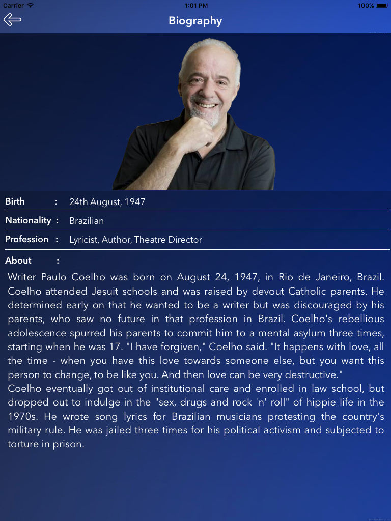 a biography and life work of paolo coelho a brazilian author