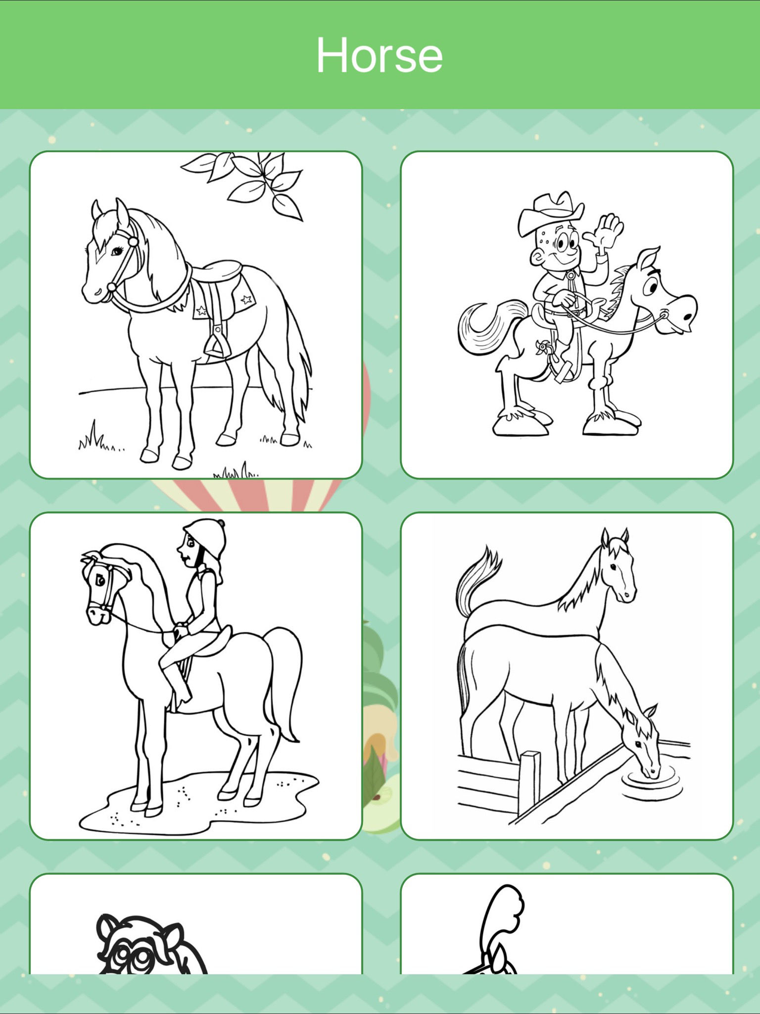 Horses Coloring Book for Kids: Learn to color App Ranking and Store ...