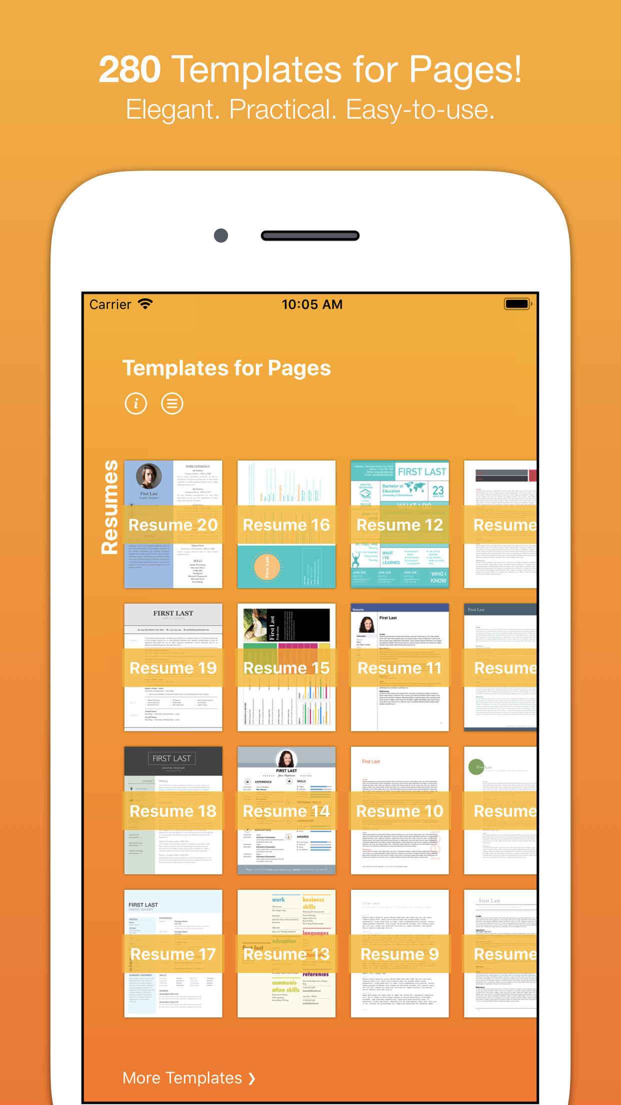 This Bundle Combines Our Popular Templates For Pages App With Resume Specifc A Total Of 490