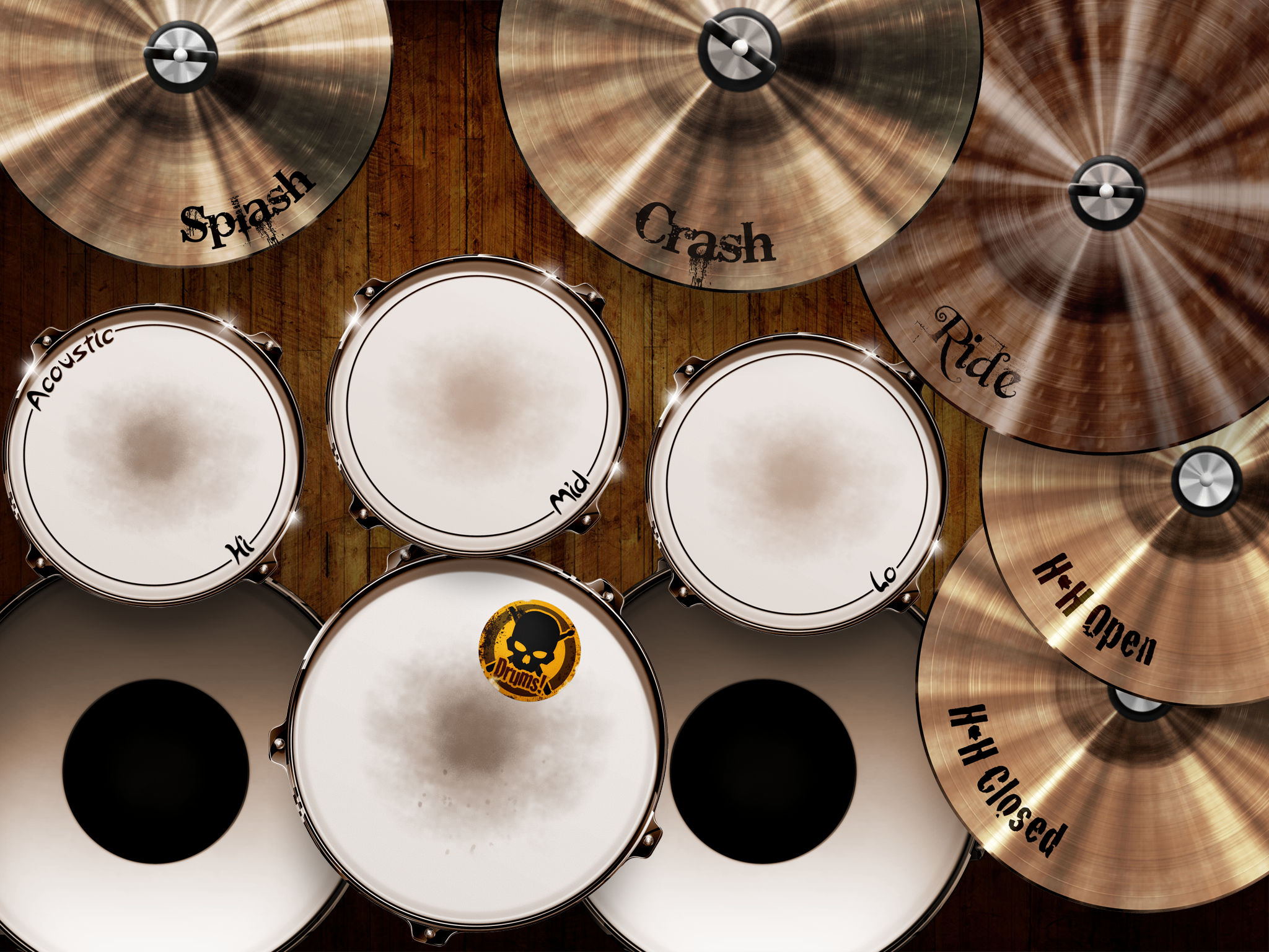 Drums! - A studio quality drum kit in your pocket App
