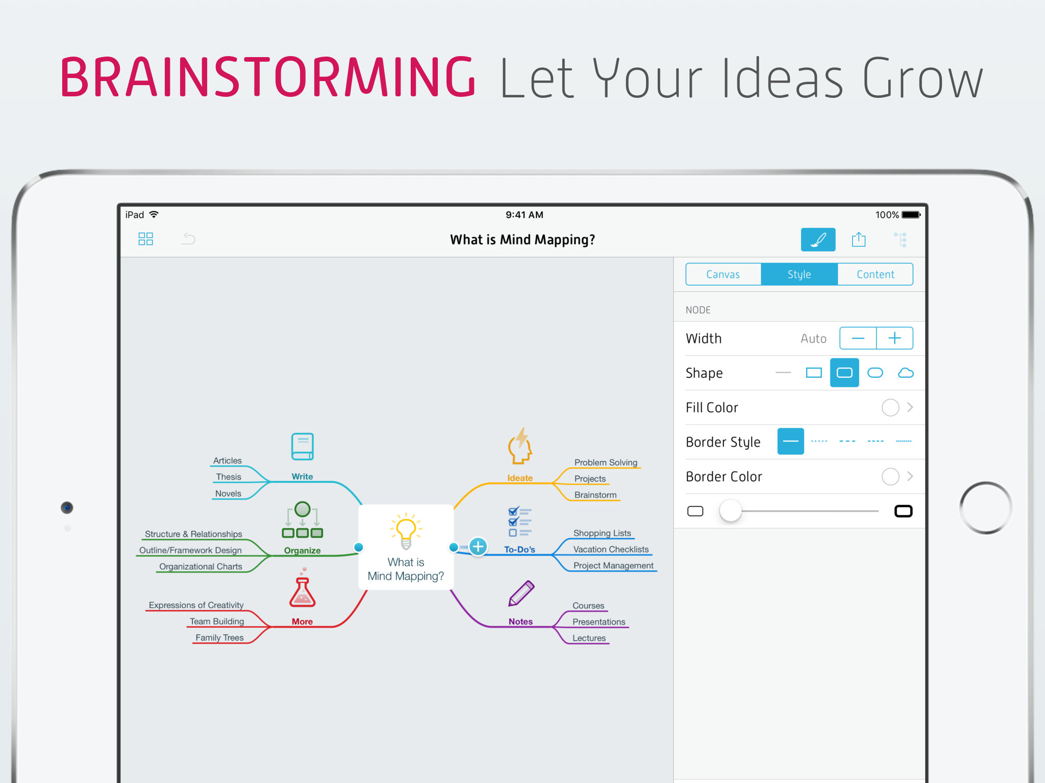 Check out brainstorming software such as smart ideas to help you - App Description