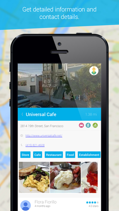 find cafes nearby