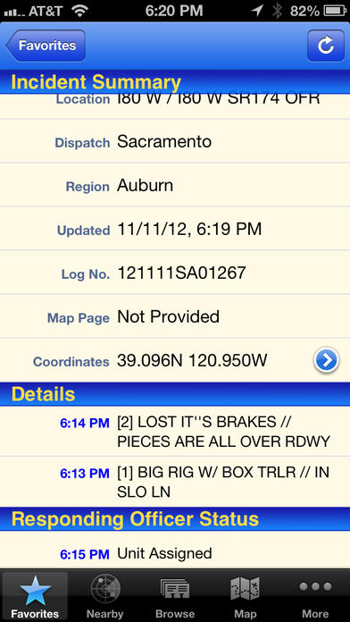 Chp incident reports by date