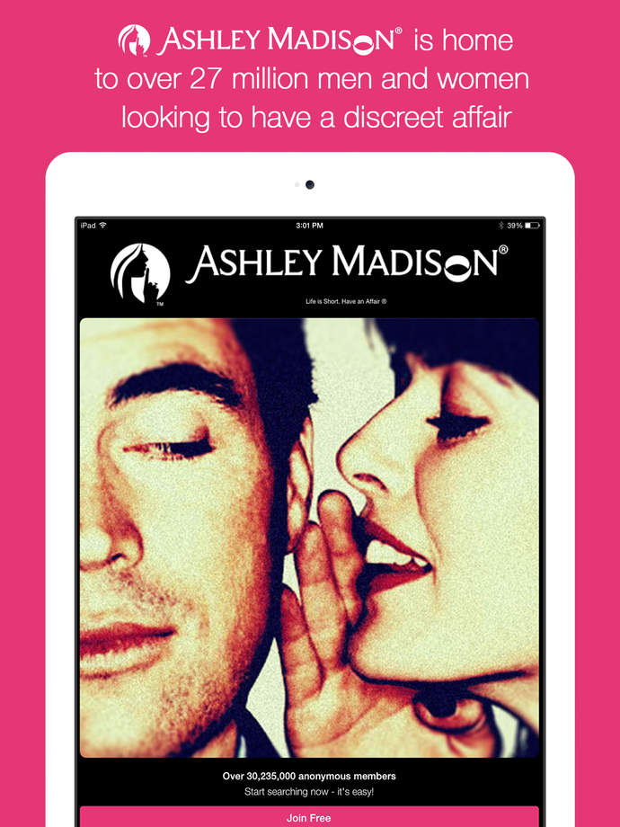 ashley madison mobile app