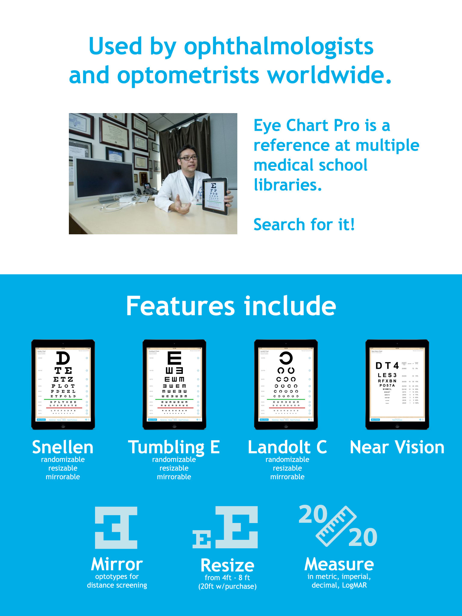 Eye chart pro test vision and visual acuity better with snellen eye chart pro was made with the best of intentions and we hope to continue improving it your feedback is appreciated nvjuhfo Choice Image