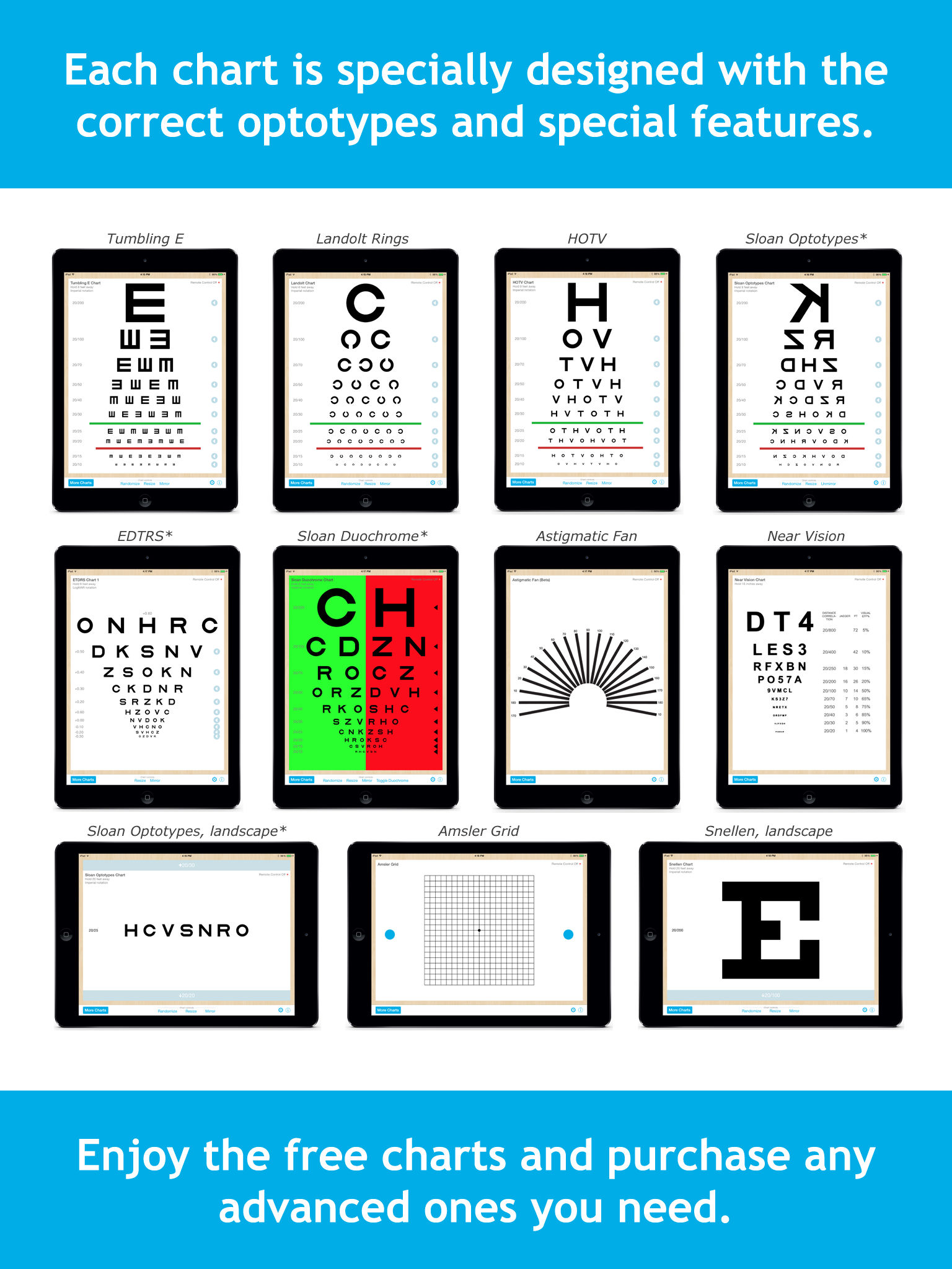 Eye chart pro test vision and visual acuity better with snellen app description nvjuhfo Choice Image