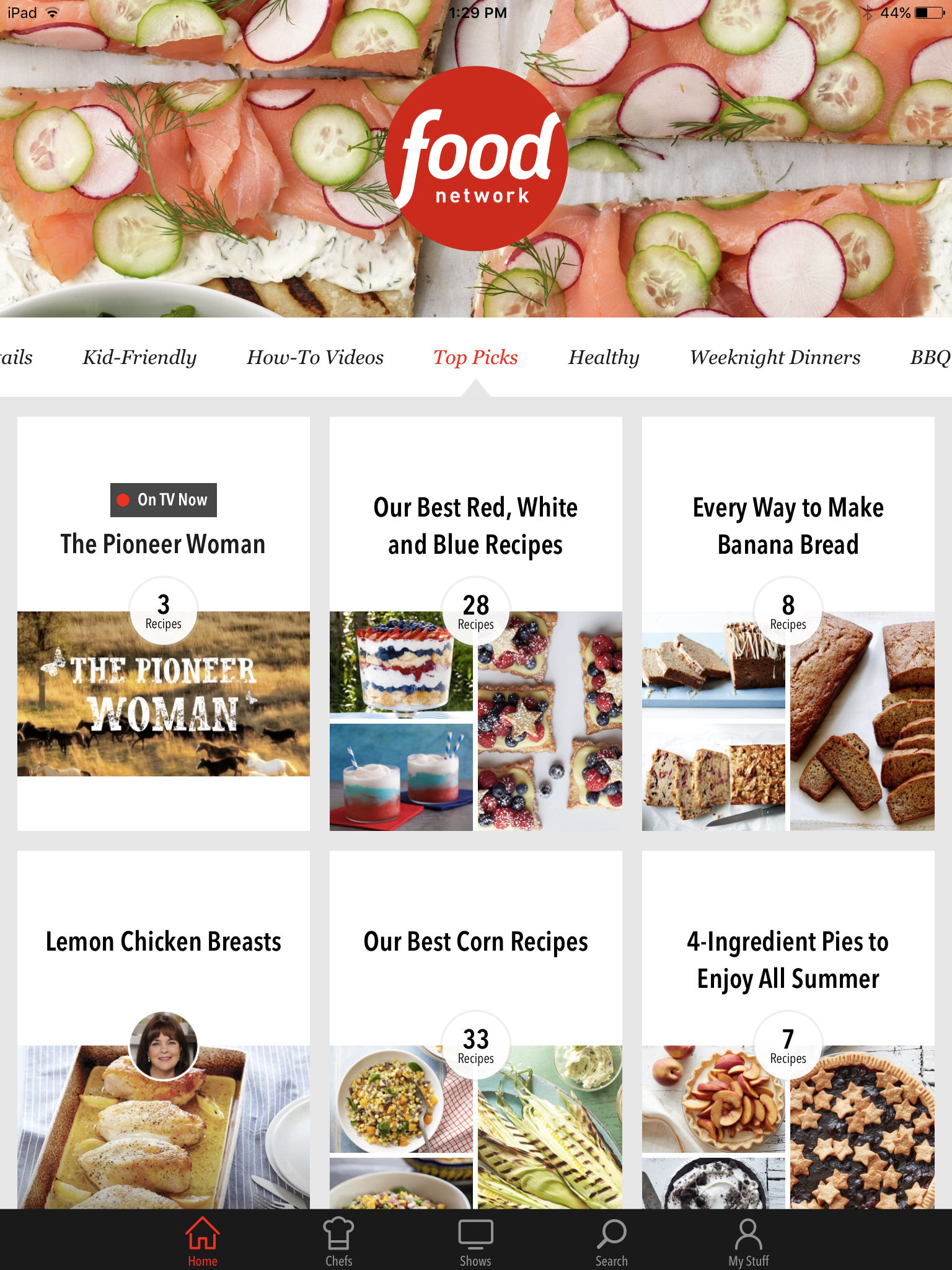 Food network in the kitchen app ranking and store data app annie start your day off right with irresistible food facts cooking tips and related recipes with our daily bites widget available in the today view forumfinder Choice Image