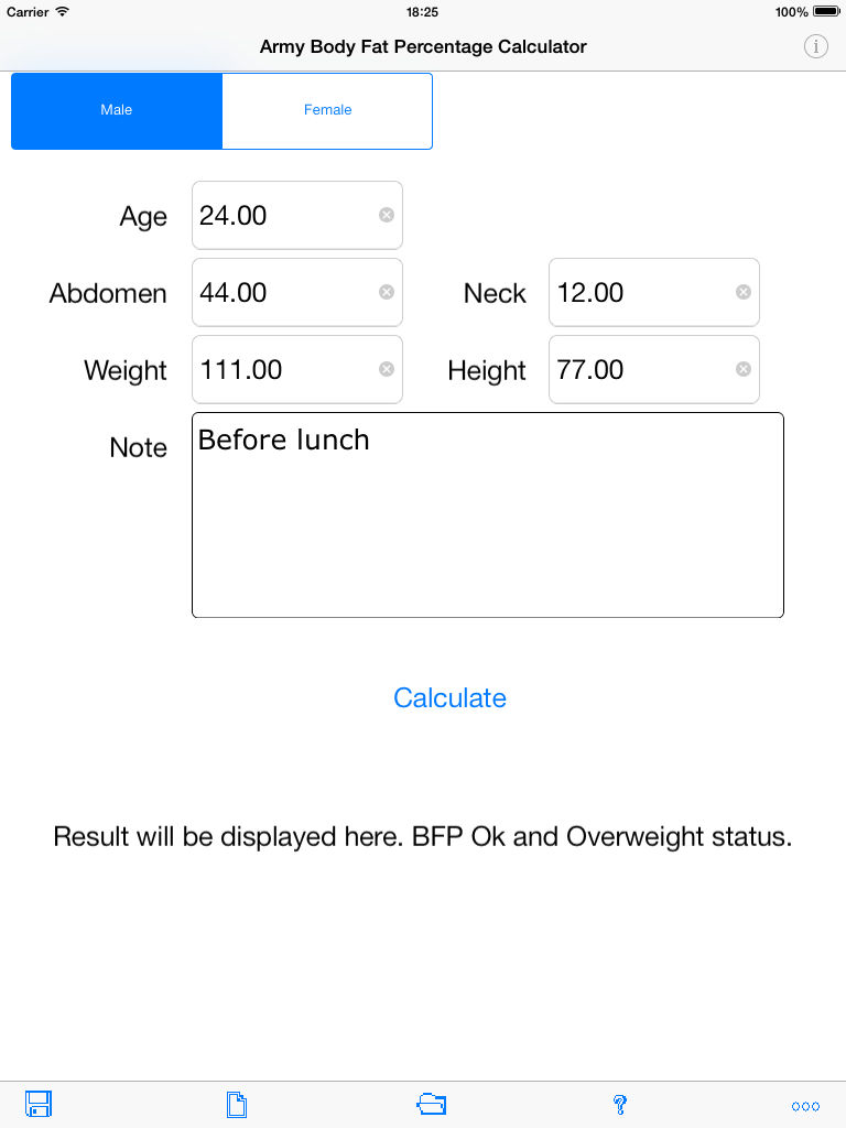 Army Body Fat Percentage Calculator for iPad App Ranking and