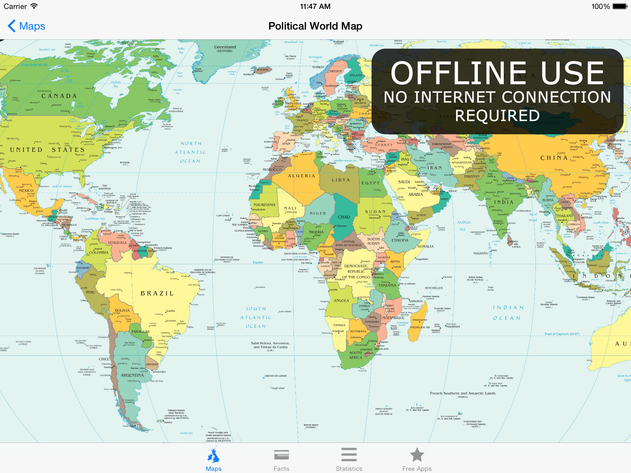 Download World Map App on