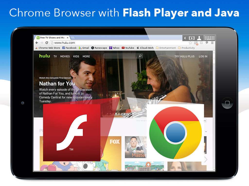 VirtualBrowser for Chrome + Flash Player, Java & Browser Extensions
