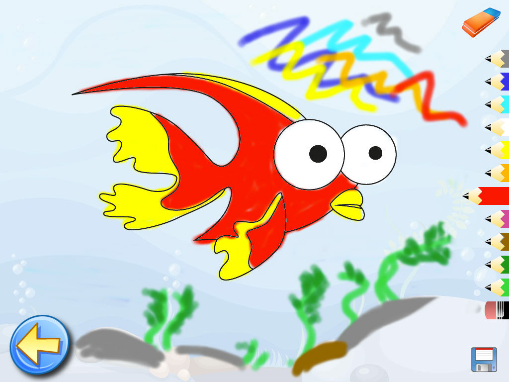 ocean puzzle coloring the sea fish drawings games for kids
