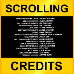 Scrolling Credits - Use with iMovie to Scroll Text in Your Movies - iOS Store App Ranking and App Store Stats