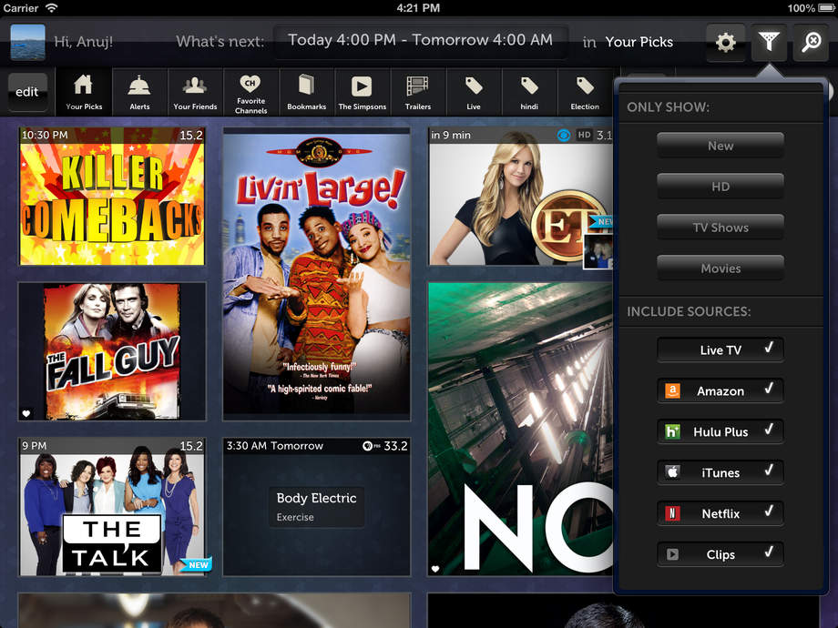 Free TV Guide with Netflix, Hulu, Amazon and iTunes Listings for TV ...