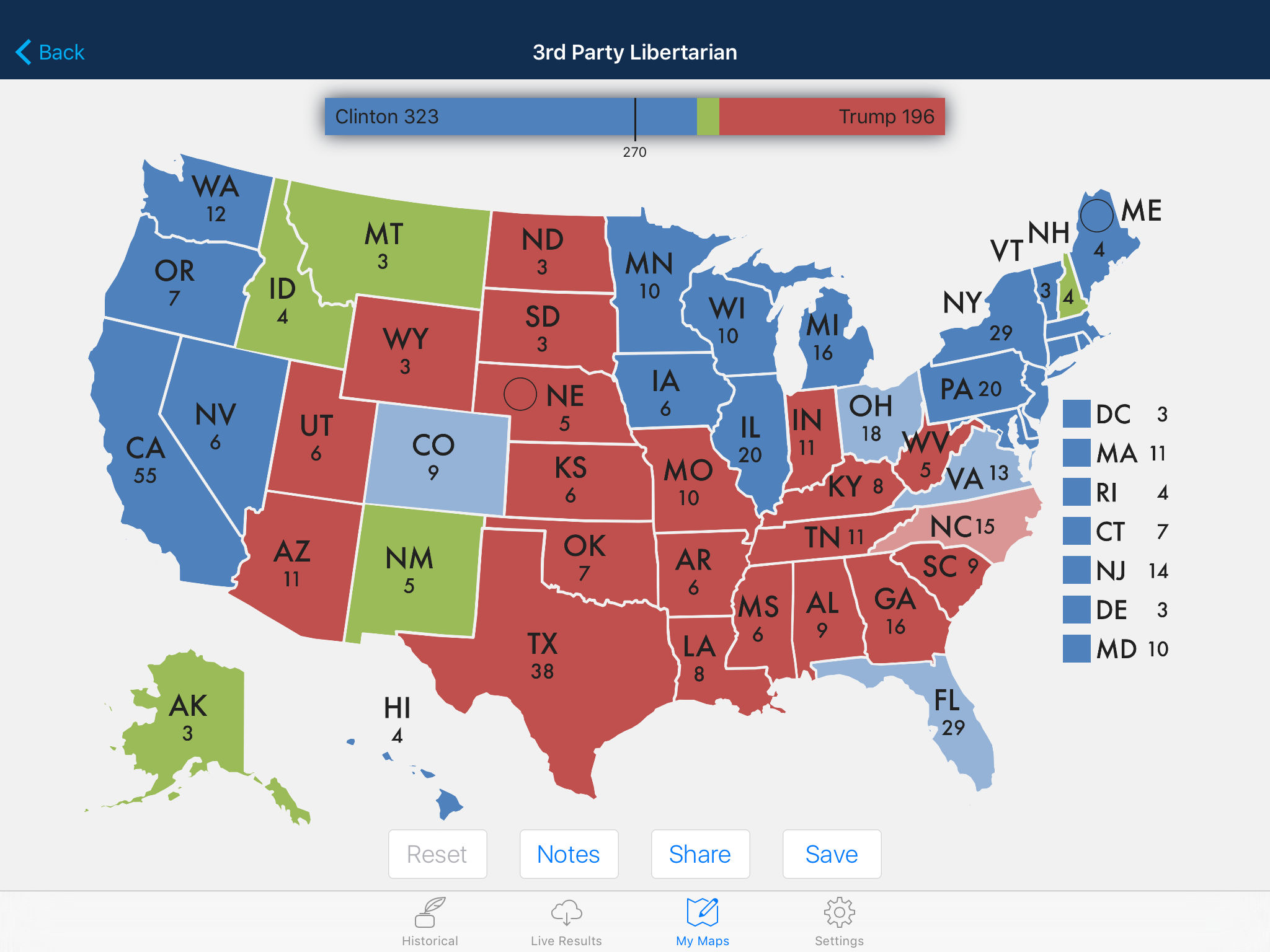 Presidential Election & Electoral College Maps App-Ranking ...