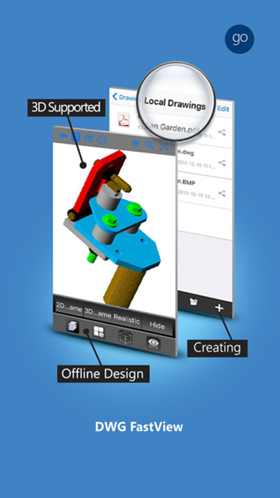 Dwg fastview pro cad drawing and viewer best blueprint for Blueprint maker app