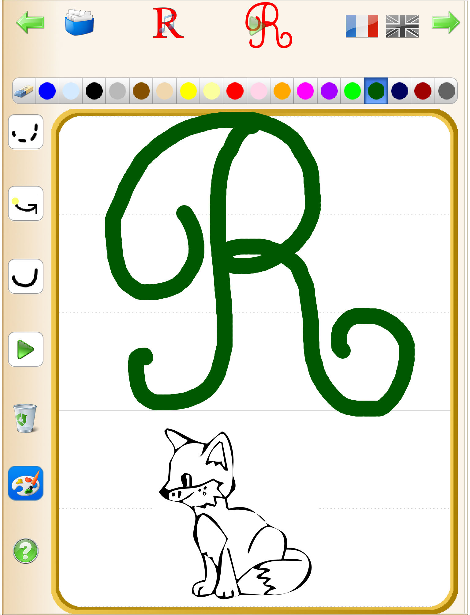 Learn to write Alphabet Letters - English and French Sounds App ...