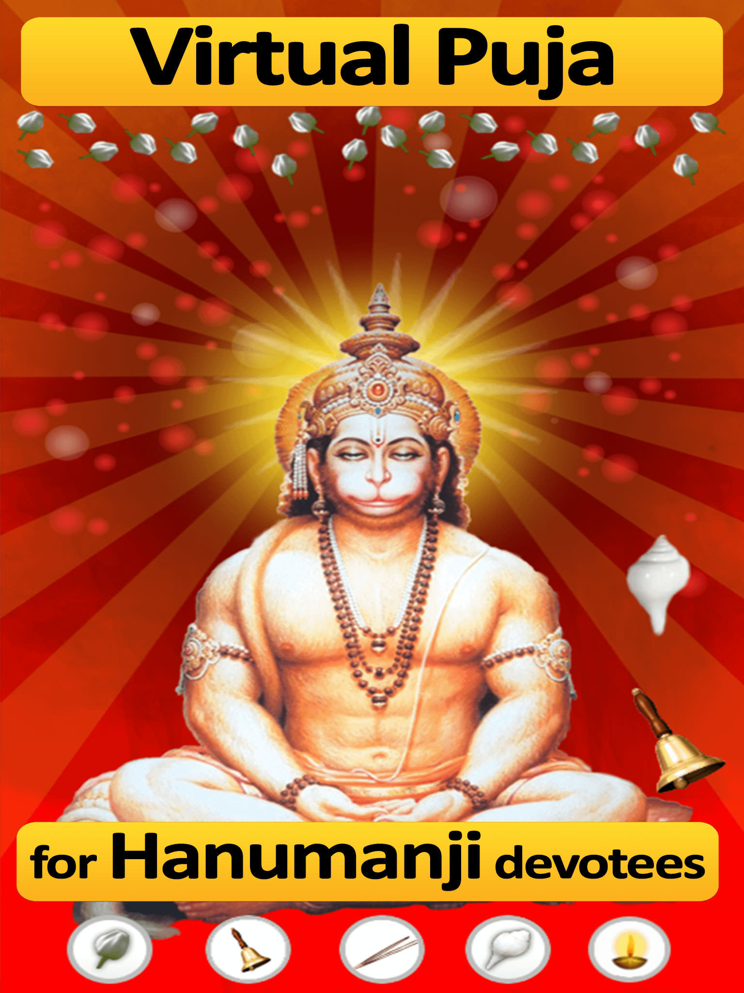 Hanuman chalisa with audio : read, play and count App