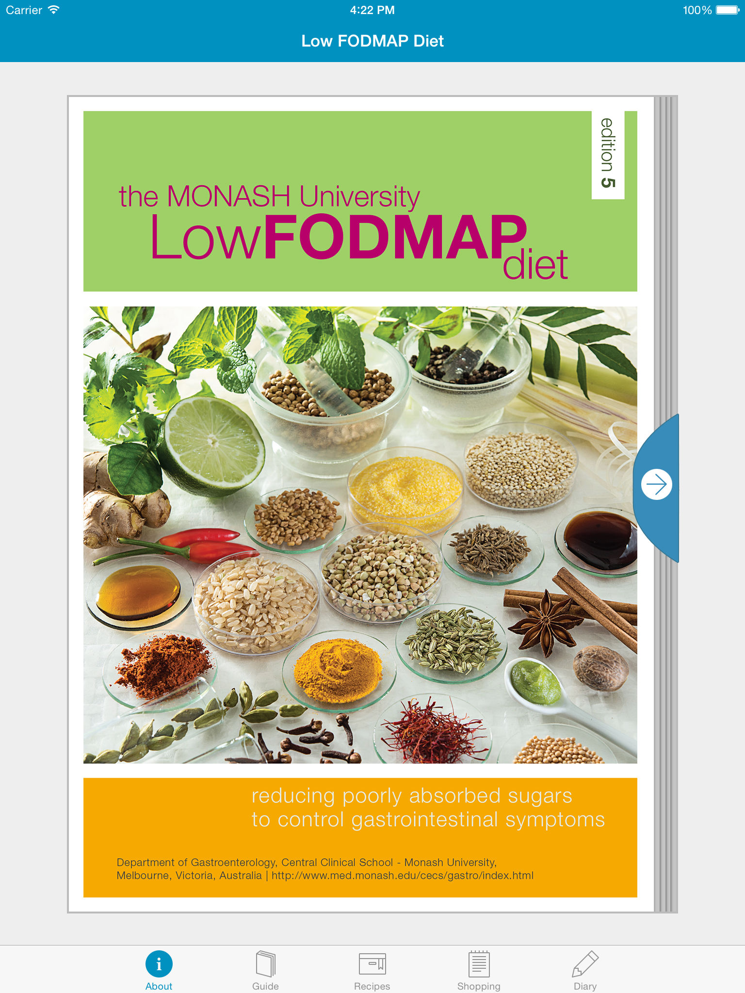 Monash university fodmap diet app ranking and store data app annie a one week food symptom journal to monitor a strict fodmap diet with the function to view detailed graphs of symptoms and the end of the week publicscrutiny Images