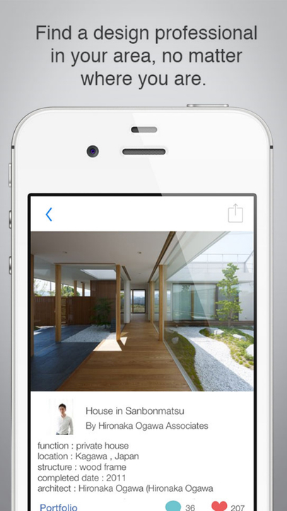 Iphone mobile analytics and app store data for Interior design app ios