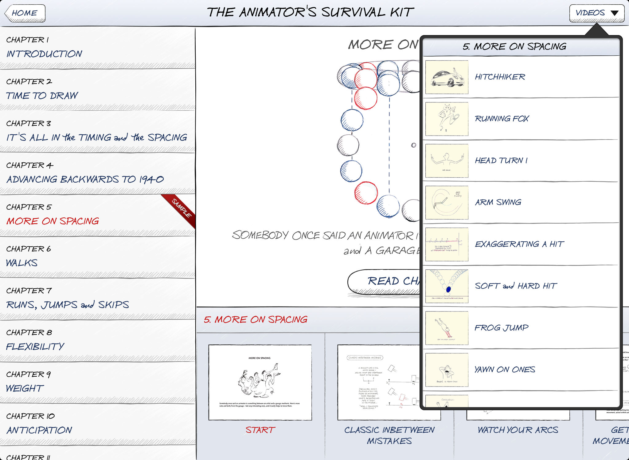 The Animator's Survival Kit Sample App Ranking and Store