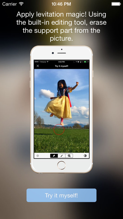 how to make levitation photos on iphone